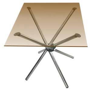 """Выставочное оборудование: Стеклянный стол """"Квадрат"""""""