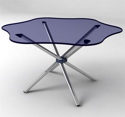 """Выставочное оборудование: Стеклянный стол """"Ромашка"""""""